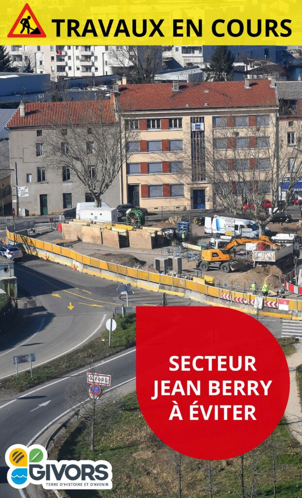 Travaux place Jean Berry
