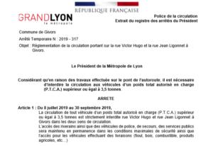 Communiqué Metropole de Lyon