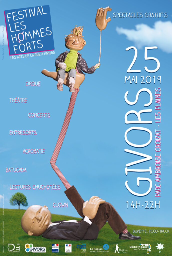 Affiche festival Hommes Forts 2019
