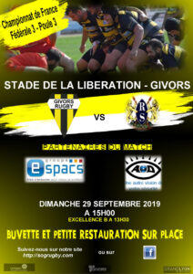 Affiche Rugby septembre 2019