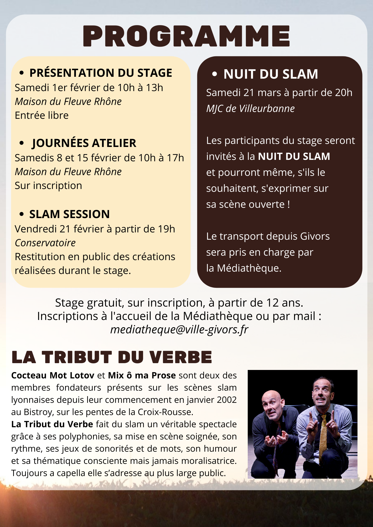 stage slam givors verso