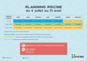 Planning piscine été 2020