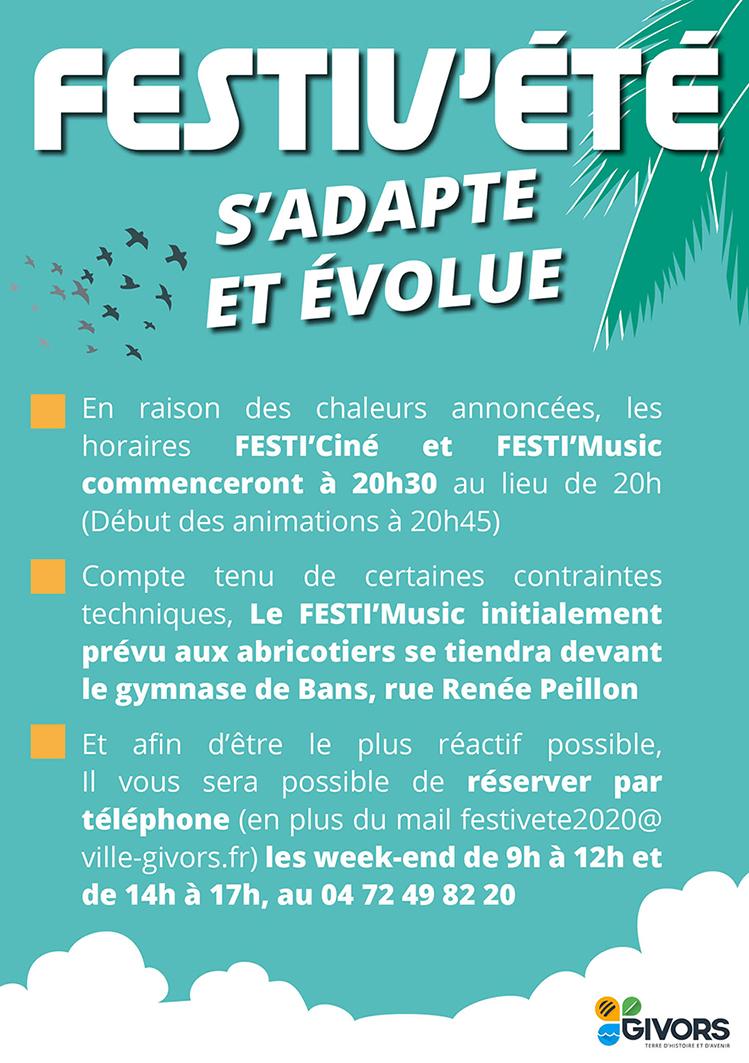 Festiv'été s'adapte et évolue 2020