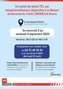 Affiche MSAP Givors abonnements TCL