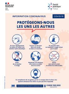 gestes barrières français