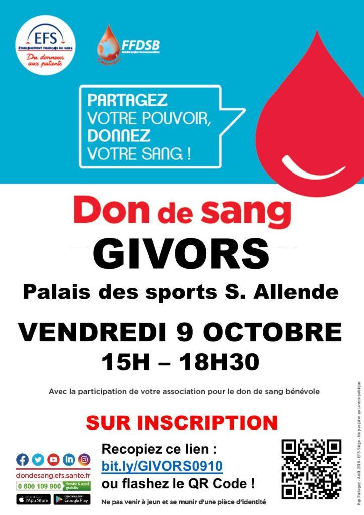AFFICHE_Givors don du sang oct 2020