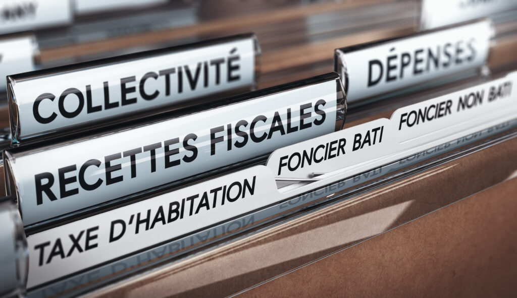 Recettes fiscales des collectivités, fiscalité directe. Taxe d'habitation et sur les fonciers bâtis et non bâtis.