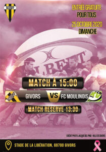 nnonce Rugby octobre rose