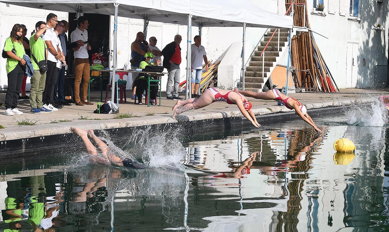 Triathlon féminin, Givors le 4 septembre 2021 © Jacques Del Pino / Ville de Givors  8800